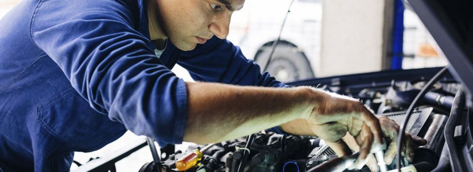 Mechanic working